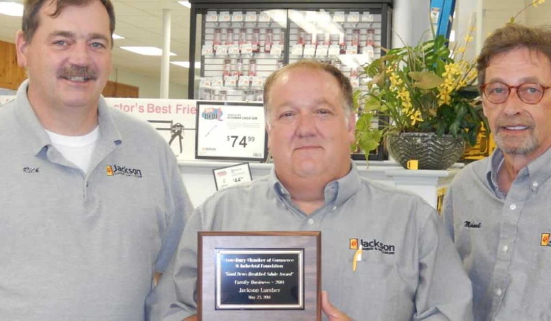 Amesbury Chamber of Commerce Recognizes Jackson Lumber & Millwork as Family Business of the Year
